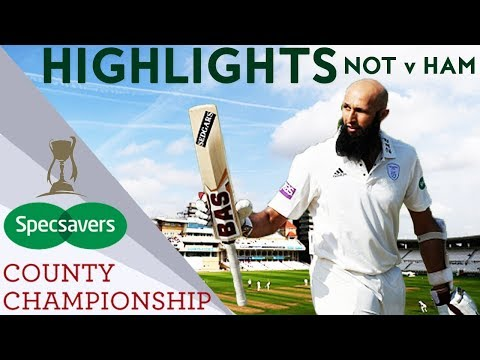 Amla Makes Hundred As Broad Impresses For Notts v Hampshire - County Championship Highlights 2018