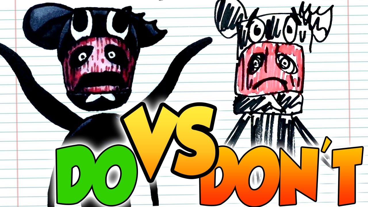 DOs & DON'Ts Drawing Cartoon Mouse and some new Trevor Henderson Creature In 1 Minute CHALLENGE!