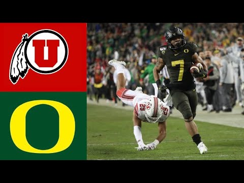 #5 Utah vs #13 Oregon 2019 Pac 12 Championship Highlights | College Football Highlights