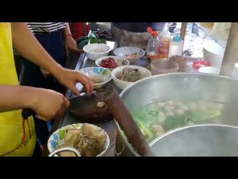 Asian Street Food - Eating Street Noodles - Youtube