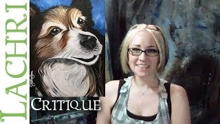 Critique your painting series Art tips w/ Lachri - Sheltie portrait