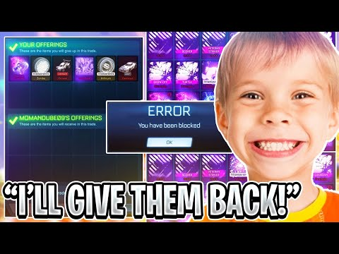 I Accepted Everyone's *TRUST TRADE* on Rocket League so you don't have to... [GONE WRONG]