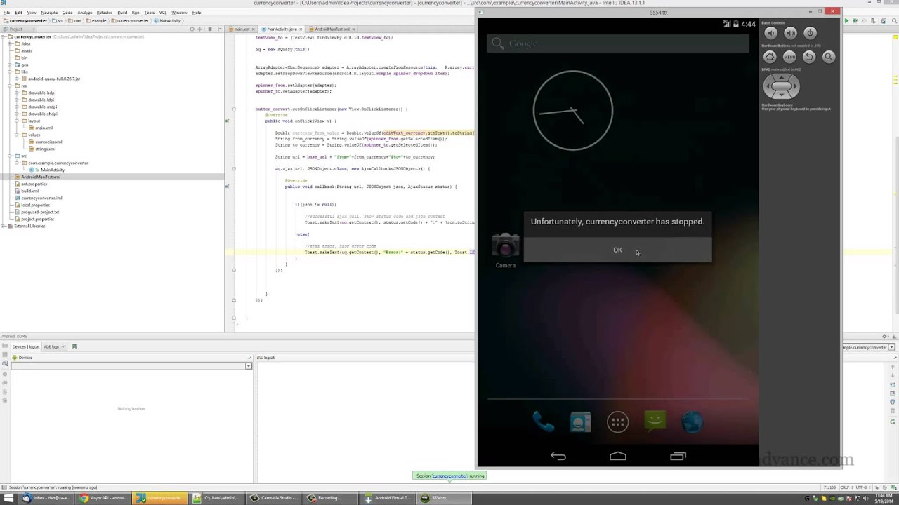 android programming tutorial your first app currency converter 5 new youtube