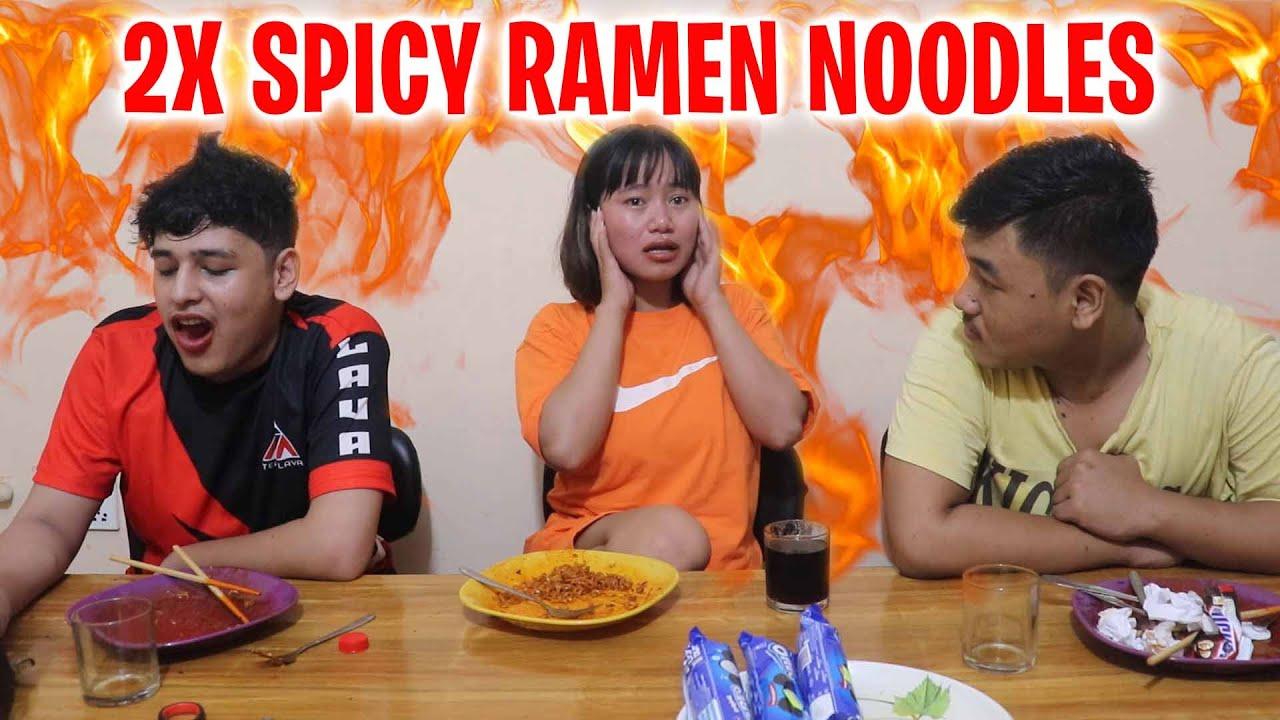 Download EXTREME 2X Spicy Ramen Noodles Challenge | Sooneeta