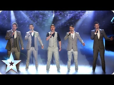 Collabro are singing Stars  Britains Got Talent 2014 Final