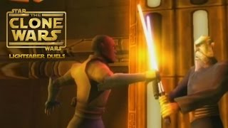 Star Wars: The Clone Wars - Lightsaber Duels (Wii) Gameplay: Mace Windu vs Count Dooku