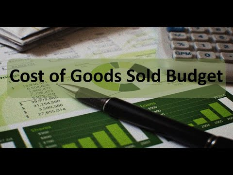 Managerial Accounting: Cost of Goods Sold Budget
