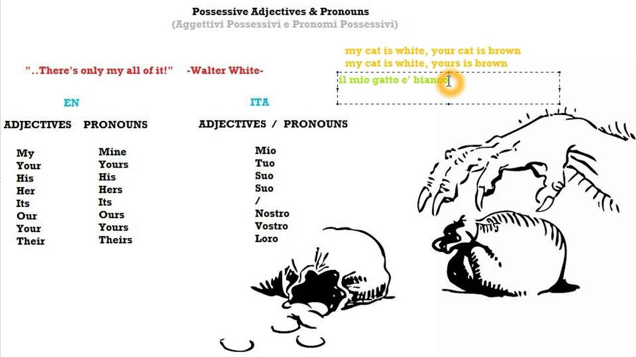 Italian Course Beginner Series 36: Possessive Adjectives & Pronouns