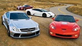 corvette zr1 vs sl65 amg black series murcilago lp640 viper srt10 car and driver