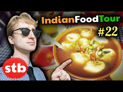 TIBETAN FOOD in INDIA!! // Ladakhi MOMOS & Indian Food Tour #22 in Leh