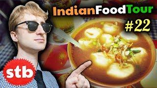 TIBETAN FOOD in INDIA!! // Ladakhi MOMOS & Indian Food Tour #22 in Leh