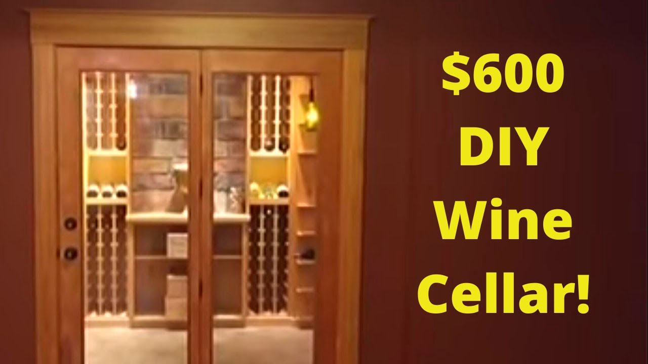 Mini Wine Cellar Ideas diy basement wine cellar - cheap but fully custom