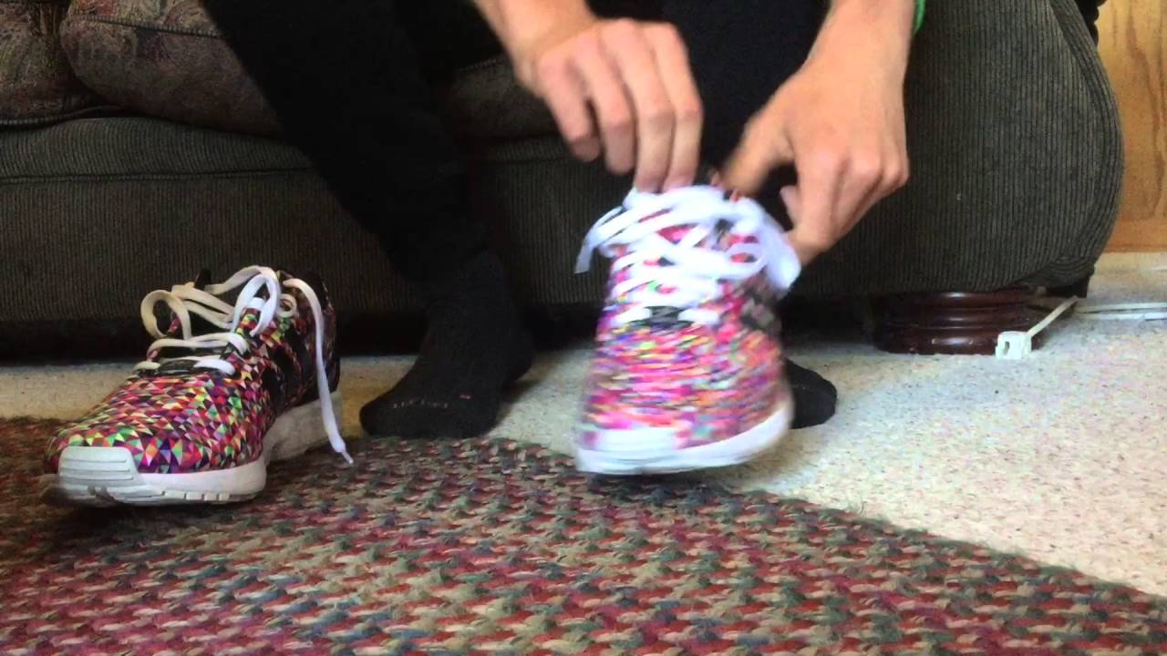 8b66e5b76 Adidas ZX Flux Prism Multicolor Up Close Look With ON FEET - YouTube