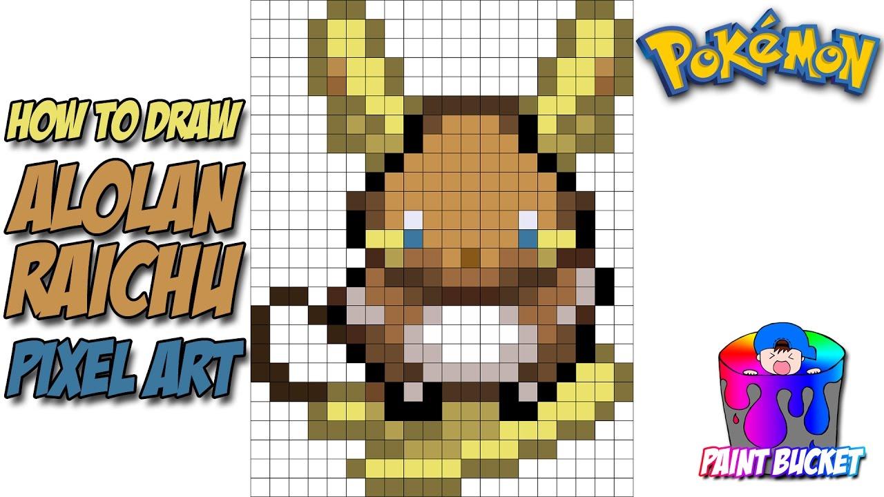How To Draw Alolan Raichu Pokemon Sun And Pokemon Moon Speed Drawing Tutorial