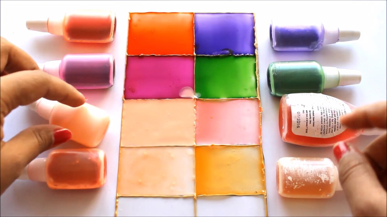 COLOR MIXING CHART FOR GLASS PAINTING