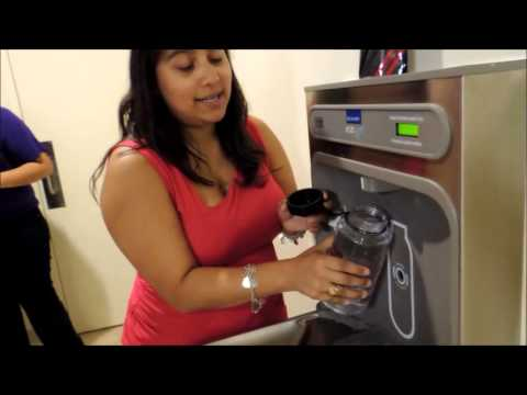 Students talk about the EZH2O Bottle Filling Station
