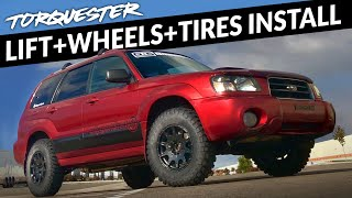 Forester XT Off-Road Build : EP5 - New Wheels, Tires, and a Lift!
