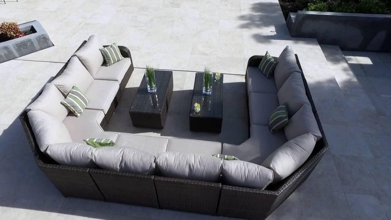 Moda Furnishing Rattan Garden Furniture  LEDBURY 10: Rattan Sofa