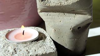 DIY Jak zrobić świecznik z Betonu ♥ TANIE DIY