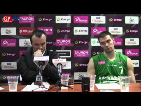 Mihailo Uvalin i Oliver Stević po meczu z Energą Czarnymi Słupsk