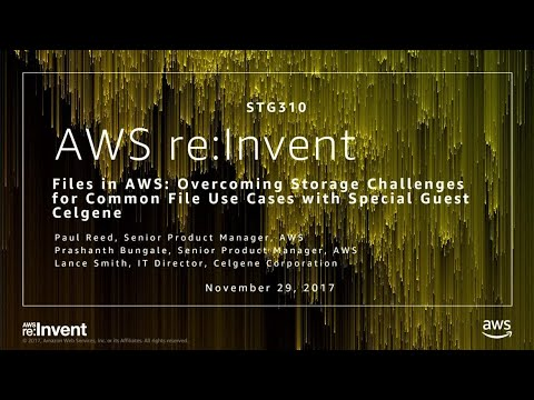 AWS re:Invent 2017: Files in AWS: Overcoming Storage Challenges for Common File Use  (STG310)