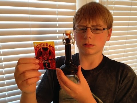 11-yr-old eats Satan's Blood (800,000 Scoville) : Hot Sauce Review, Crude Brothers