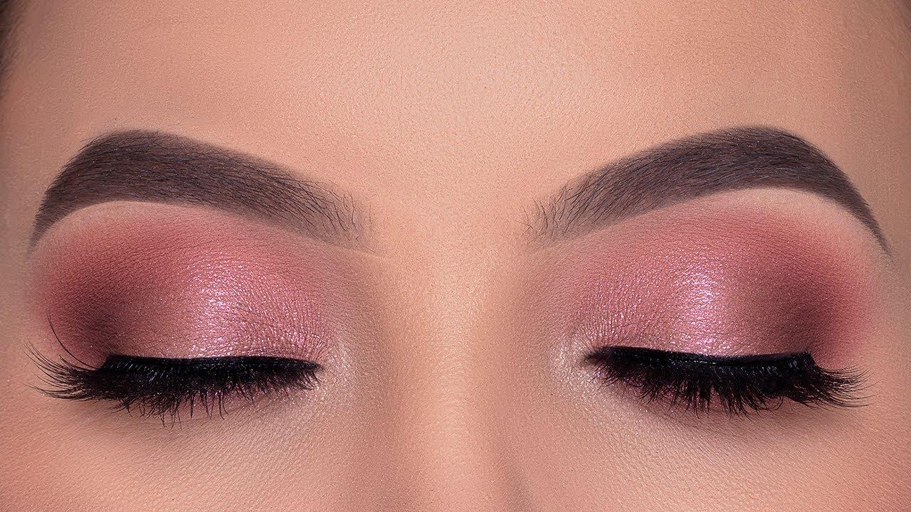 EASY Soft Rose Golden Eye Makeup Tutorial