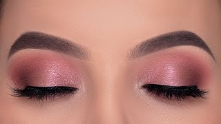 EASY Soft Rose Golden Eye Makeup Tutorial