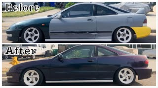 My 1994 Acura Integra WRAP REVEAL !!! (HUGE TRANSFORMATION)