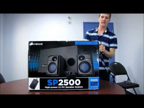 Corsair SP2500 21 Gaming Audiophile Computer Speakers Unboxing & First Look Linus Tech Tips
