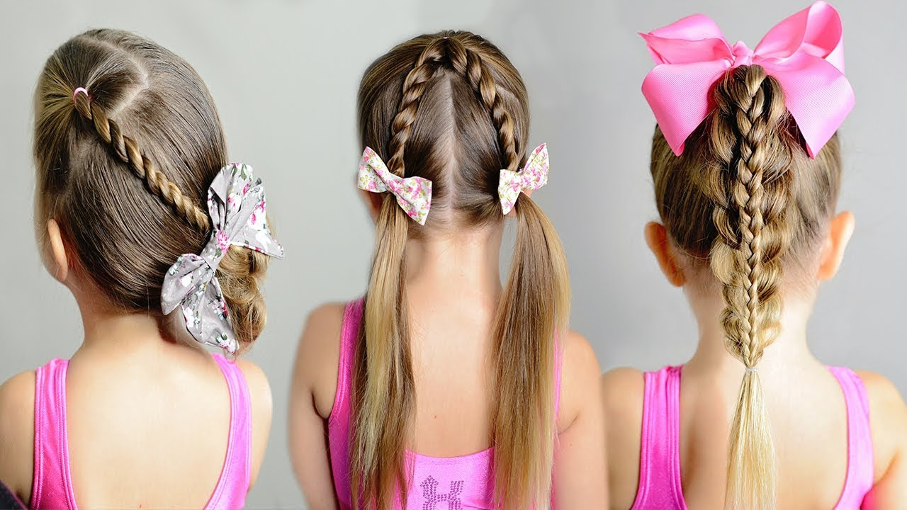 5 minute girl's hairstyle - 3 easy toddler hair ideas