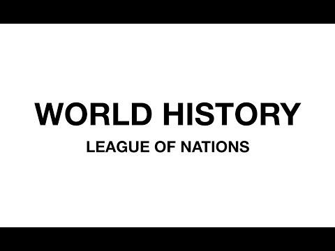 World History for UPSC - League of Nations (in Hindi)