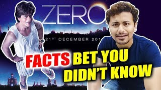 Shahrukh Khan's ZERO - Interesting Facts - | Katrina Kaif | Anushka Sharma