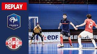 Futsal France Géorgie 4 4 le replay