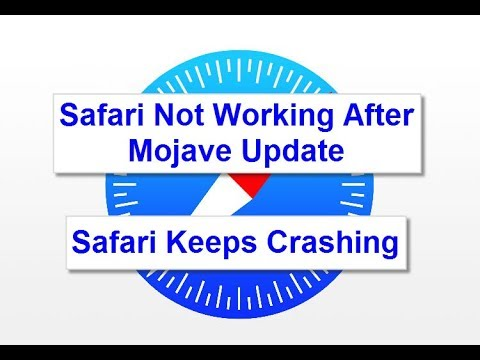 Safari not working after Mojave Update (Solved)