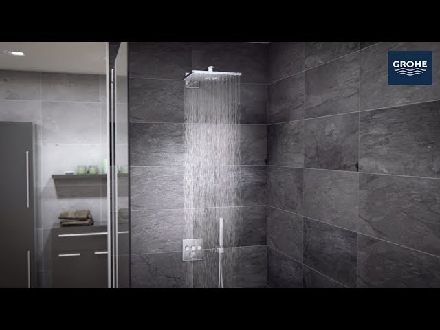 grohe grohtherm smartcontrol duschsystem unterputz mit rainshower 310 smartactive cube 34706000. Black Bedroom Furniture Sets. Home Design Ideas