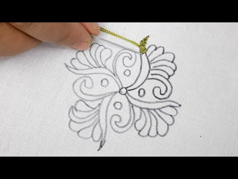 hand embroidery beautiful Cushion cover design tutorial thumbnail