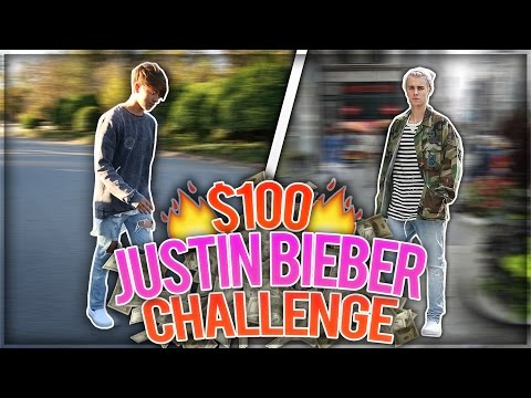 Dress Like JUSTIN BIEBER for $100 CHALLENGE!