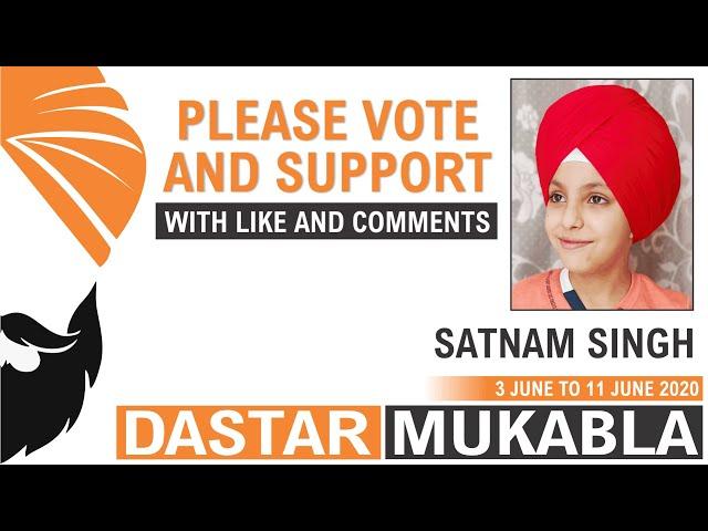 SATNAM SINGH || Dhansikhi Dastar Mukabla || Dhansikhi Turban Tying Compitition 2020