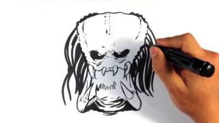How to Draw Predator - Movie Monsters