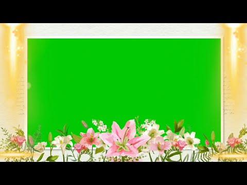flower frame green screen animation effects HD | Free chroma key Frame animation effects