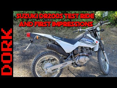 Suzuki DR200S Review: Test Ride and First Impressions + Suzuki DR200S vs Honda CRF250L