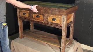Sofa Table With Gun Concealment