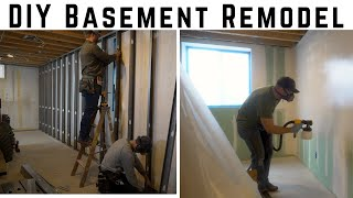 Affordable DIY Framing, Drywall, & Paint // How To Basement Remodel