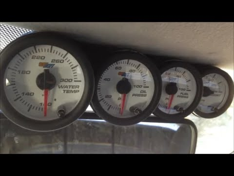 DIY Windshield Gauge Pod Fabrication & Glowshift Gauge Install - 2003 Ford 7.3L Powerstroke Diesel