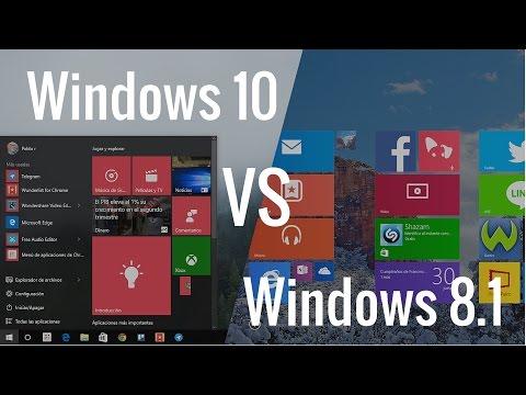 Windows 10 vs Windows 8.1, comparativa en español