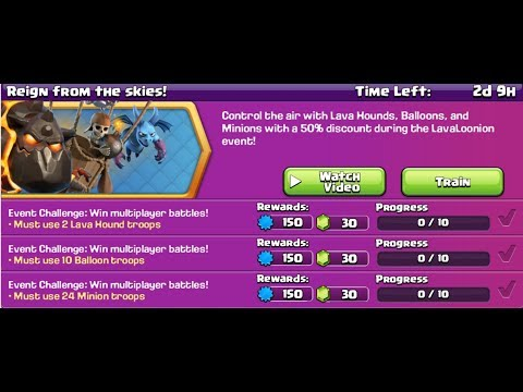 🔴 Clash of Clans // Reign From The Skies Event - 90 GEMS! // TH 11Lavaloonian - Live Stream