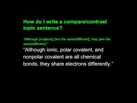 Compare Contrast Writing-Third Example