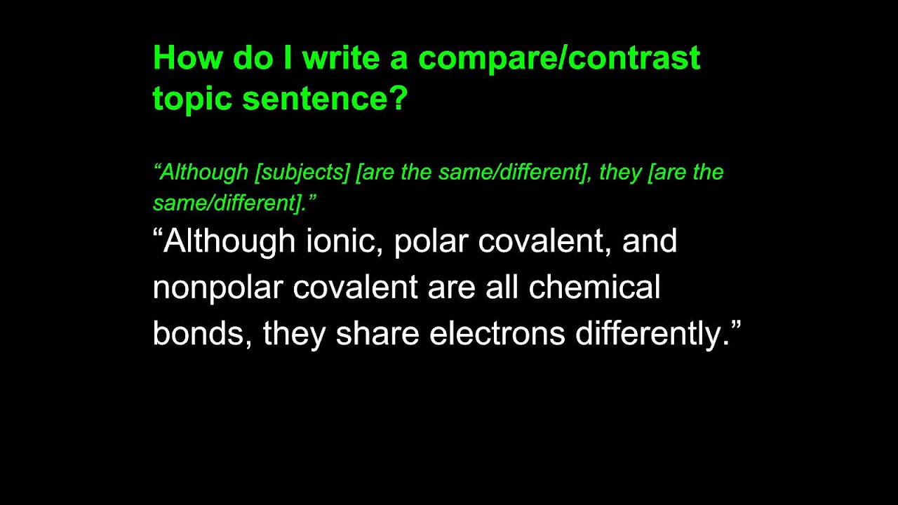 compare contrast writing third example  compare contrast writing third example