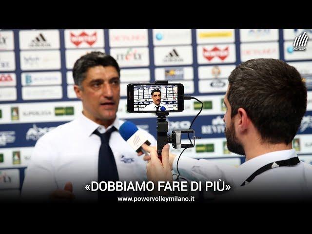 Superlega, l'intervista post Milano - Siena di Andrea Giani